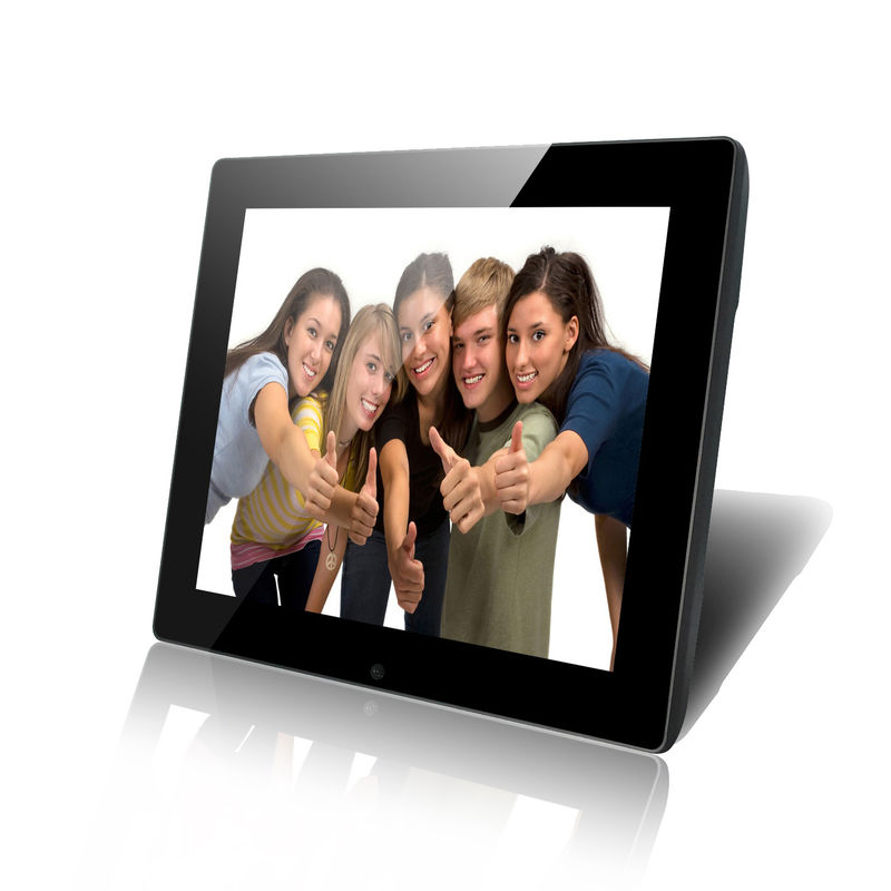 High Resolution Remote Control LCD Digital Photo Frame 12 Inch with Temper Glass