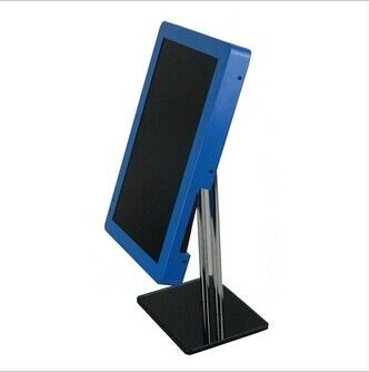 Blue 8 Inch USB 2.0 Metal Rack POP LCD Display Monitor With Loop Photo Play