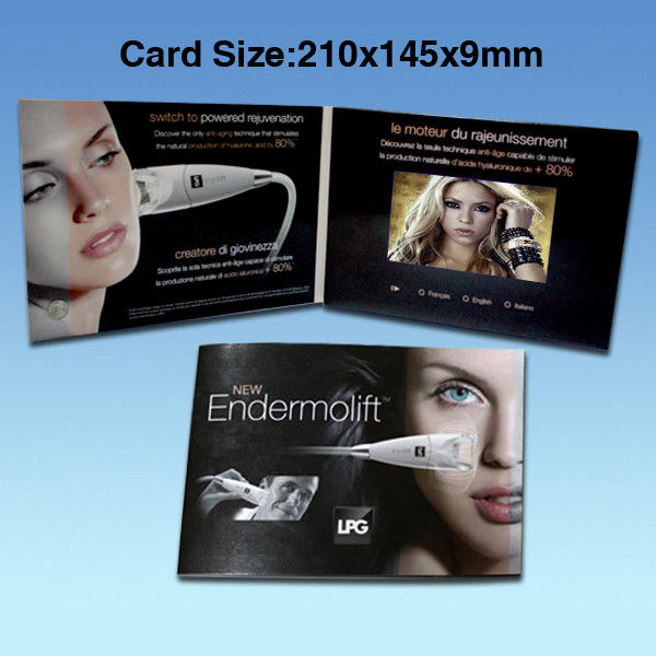 5 Inch Battery Operated Calendar Promotional Video Card Brochure 480*272